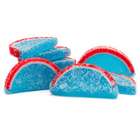 Candy Fruit Jell Slices - Blue Raspberry: 5LB Box