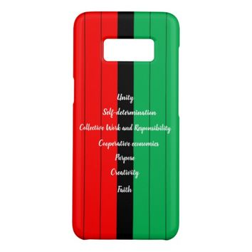Kwanzaa Principles Red Black Green Stripes Pattern Case-Mate Samsung Galaxy S8 Case