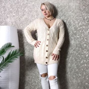 Winter Autumn Long Female Christmas Cardigans Casual Knitted Cashmere Sweaters Big Size Cardigans Hirsionsan Korean Sueter