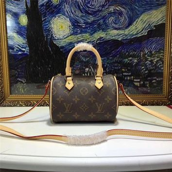 Lv Louis Vuitton Monogram Nano Speedy Handbag