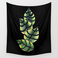 Viper Leaves Wall Tapestry by ES Creative Designs
