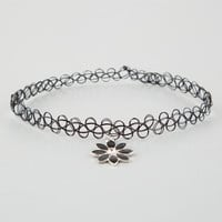 Full Tilt Daisy Stretch Tattoo Choker Black One Size For Women 25361910001