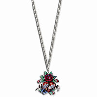 Rose Eternal Love Painted 24in Necklace by Ed Hardy Jewelry