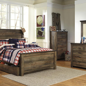 Ramada Plank Full Size Panel Bed