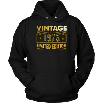 Vintage 1975 43 Year Old Birthday Gift Hoodie