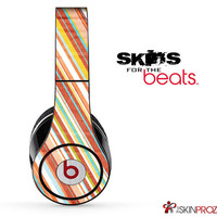 Slanted Vintage Stripes Skin For The Beats by Dre Studio, Solo, Pro, Mix-R or Wireless