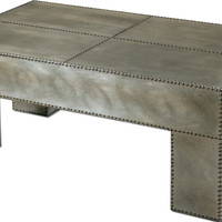 Industrial Silver Metal Coffee Table