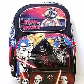 "Disney Star Wars Boys & Girls 16"" Canvas Backpack & Kylo Ren Pencil Case"