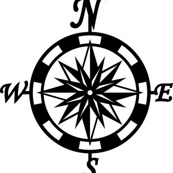 Compass with Letters