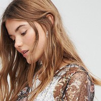 Bershka Floral Mesh Midi Dress at asos.com