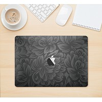 "The Black & Gray Dark Lace Floral Skin Kit for the 12"" Apple MacBook"