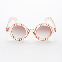Minkpink Madness Round Sunglasses in Polka Dot - Urban Outfitters