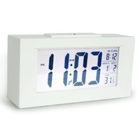 """HITO&#153 6"""" Smart, Simple and Silent Alarm Clock w/ Date and temperature Display, Repeating Snooze, Sensor Light + Night Light:Amazon:Home & Kitchen"""