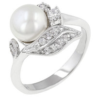 Antique Style Pearl Ring