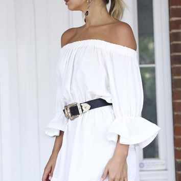All The Stars Dress (White) | Xenia Boutique | Women's fashion for Less - Fast Shipping