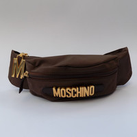 MOSCHINO by Redwall Vintage Brown Bum Bag. Italian designer purse.