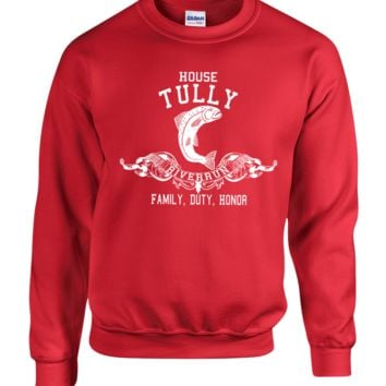 house tullys game of thrones crewneck sweatshirt
