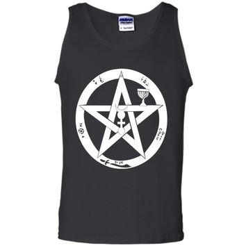 Wicca Protection Symbol T-Shirt Wiccan Pentagram Pagan Tee