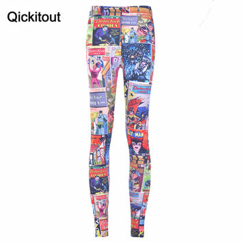 Summer style Fashion sexy HOT Sexy Fashion 2014 Pirate Leggins Pants Digital Printing GOLDEN AGE LEGGINGS For Women