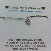 18th birthday bracelet | Wish bracelet | friendship bracelet | 18th birthday card | coming of age gift | 18th birthday gift | gift for 18th