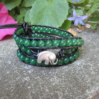 Good Karma Triple Wrap Jade Bracelet