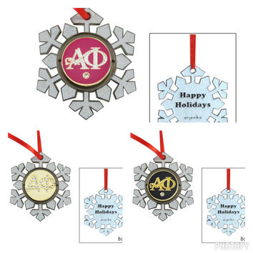 Alpha Phi Christmas Ornament - 19.95 Perfect Stocking Stuffer or Sorority Secret Santa Gift