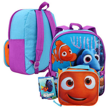 """Finding Dory & Nemo 12"""" Toddler Backpack With Lunch Bag"""