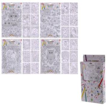 36 Adult and Kids Colouring Books 6 Pages Fun Garden Design