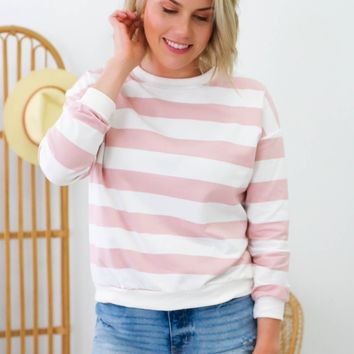 Enjoy The Moment Sweatshirt - Dark Blush