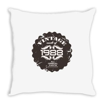 vintage made of 1988 all original parts Throw Pillow