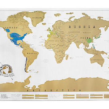 SCRATCH MAP | Chart For Travel Lovers | UncommonGoods