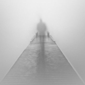Black and white photography / fog / foggy / surreal / mystery / The Journey, 8 x 12 print