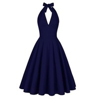 Monroe Inspired Halter Style Dress