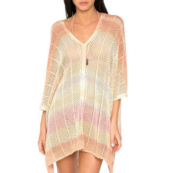 Eliza honey spice poncho