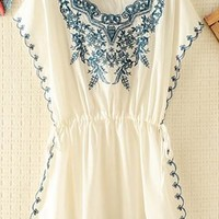 Embroidery Rim and Front Dress JCV843 from topsales