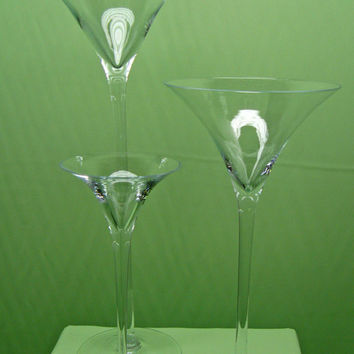 Jumbo Martini Glass Vase, 16, 20, 23-inch, Wedding Centerpiece