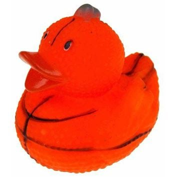 Set 12 Basketball Sports Rubber Ducks Duckie Party Favors Cake Toppers Dozen NEW