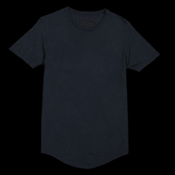 UNIONMADE - Grei. - Curved Hem Solid Crew Tee in Indigo