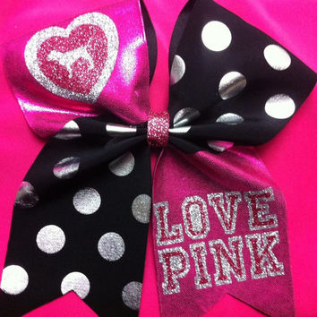 "3"" Cheer Bow- Love Pink!"
