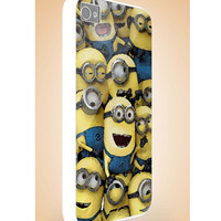minions despicable me - iphone case cover- iPhone 4 / iPhone 4S / iPhone 5 / Samsung S2 / Samsung S3 / Samsung S4 Case Cover (YT )
