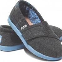 Grey Blue Plaid Mix Tiny TOMS Classics | TOMS.com