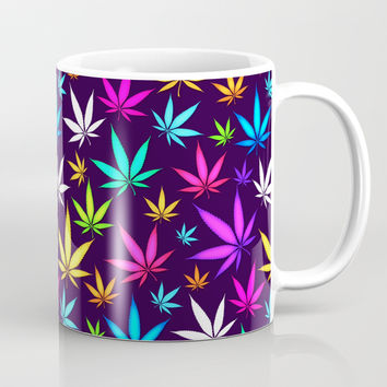 Colorful OG _\|/_ Herb Pattern Coffee Mug by tmarchev
