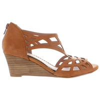 Restricted Dealer - Whiskey Cut-Out Wedge Sandal