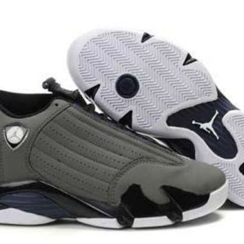 Air Jordan 14 Retro AJ14 Gray/Navy Sneaker Shoe US 8-13