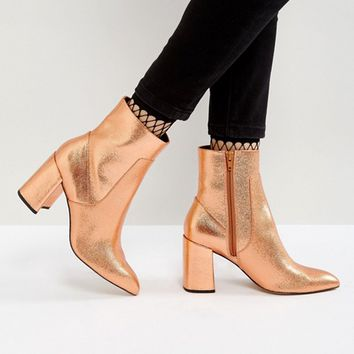 ASOS EAGLE EYE Point High Ankle Boots at asos.com