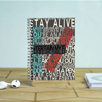 Twenty One Pilots Lyric Photo Notebook Auroid