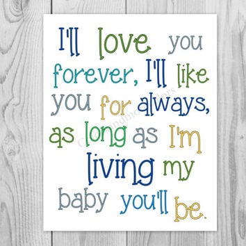 Baby Boy Nursery-Boy Nursery Print-Baby from ColorsandMoreColors
