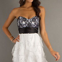 Short Strapless Prom Dress by LA Glo