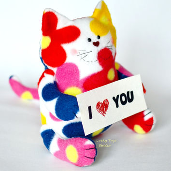 Wedding Engagement Gift Cat Soft Doll/ I Love You Engagement Gift for Girlfriend/ I Love Gift Wedding Favour