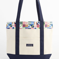 Women's Accessories: Derby Patchwork Classic Tote Bag for Kentucky Derby -Vineyard Vines
